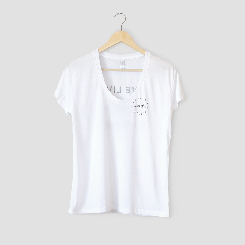 white wave logo shirt